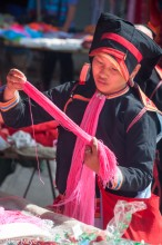 China,Hat,Market,Shopping,Yao,Yunnan