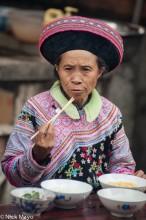 China,Eating,Hat,Miao,Yunnan