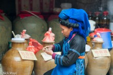 China,Hair Piece,Hani,Market,Shopping,Wine Jar,Yunnan