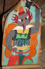 A Painted God Image At Dujie