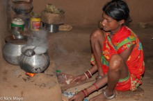 Anklet,Bracelet,Cooking,Gond,Hearth,India,Nose Stud,Orissa,Tattoo