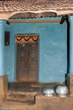 Doorway,India,Orissa,Wall