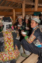 China,Earring,Eating,Guizhou,Hat,Miao,Wedding