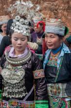 Breastpiece,China,Earring,Guizhou,Hat,Headdress,Miao,Necklace,Wedding