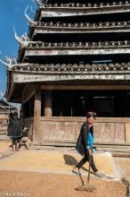 China,Dong,Drum Tower,Drying,Guizhou,Raking