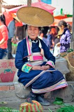 China,Dai,Hat,Market,Selling,Yunnan