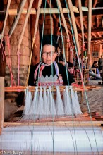 China,Dai,Frame Loom,Weaving,Yunnan