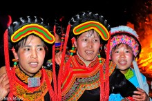 China,Earring,Festival,Hair Piece,Hat,Yi,Yunnan