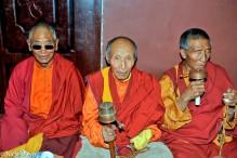 Assembly,China,Monk,Prayer Wheel,Sichuan,Tibetan