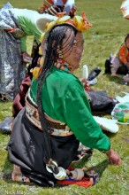 China,Earring,Festival,Hair,Hair Piece,Necklace,Sichuan,Tibetan