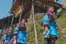 Apron,China,Earring,Guizhou,Hair,Miao,Necklace,Wedding