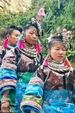 Apron,Bracelet,China,Earring,Guizhou,Hair,Hair Piece,Miao,Wedding