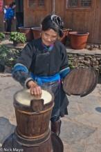 Apron,China,Cooking,Dong,Guizhou,Hair,Rice
