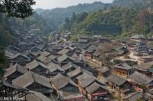 China,Drum Tower,Guizhou,Roof,Village