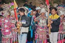 Breastpiece,China,Festival,Guizhou,Headdress,Miao,Necklace,Piping