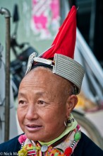 China,Earring,Hat,Yao,Yunnan
