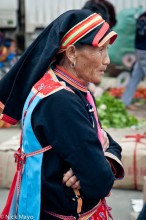 China,Cloth Backpiece,Hat,Yao,Yunnan