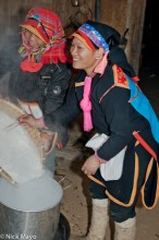 China,Cloth Backpiece,Cooking,Hat,Rice,Yao,Yunnan