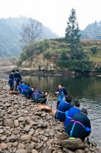 China,Guizhou,Miao,Preparing,Vegetable