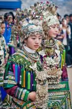 Breastpiece,China,Dong,Festival,Guizhou,Headdress,Necklace