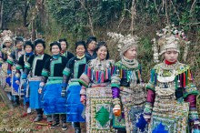 Apron,Breastpiece,China,Column,Dong,Guizhou,Hair,Headdress,Necklace,Wedding