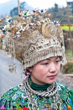 China,Dong,Guizhou,Headdress,Necklace,Wedding