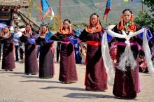 China,Festival,Hair Piece,Kata,Necklace,Qinghai,Tibetan
