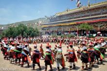 China,Circling,Festival,Hat,Monastery,Procession,Qinghai,Tibetan