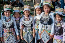 Six Young Girls In Festival Attire