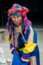 China,Earring,Lahu,Pipe,Smoking,Yunnan