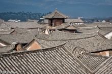 China,Roof,Village,Yunnan