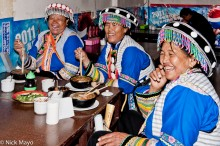 China,Eating,Hat,Lisu,Restaurant,Yunnan