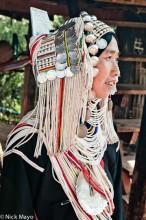 Akha Woman Returning From Market