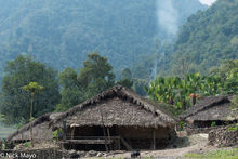 Arunachal Pradesh, India, Thatch, Village