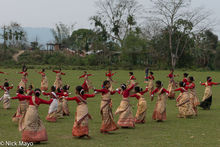 Practicing The Bihu Dance