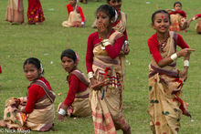 Girls At The Bihu Dance Practice