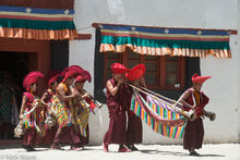 Horn Players At The Ladakh Cham Dance