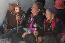 Ladakhi Women With Prayer Wheels