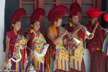 Censer, Festival, Horn, India, Jammu & Kashmir, Monk