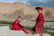 Two Young Monks Playing