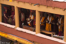 Monks Playing Drums & Cymbals
