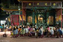 Islanders Meeting At The Temple
