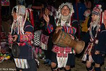 Burma, Circling, Drum, Drumming, Festival, Gong, Hani, Shan State