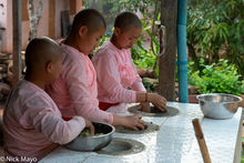 Burma, Nun, Preparing, Shan State, Spice