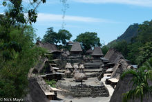 Animist Shrine, Flores, Indonesia, Roof, Thatch, Village