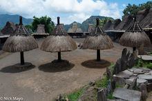 Animist Altar, Animist Shrine, Flores, Indonesia, Thatch, Village
