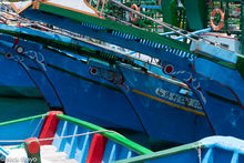 Fishing Boats With Painted Eyes