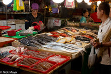 Fish Stand At Huaqiao Market