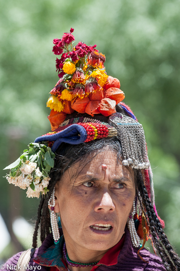 Assembly,Brokpa,Headdress,India,Jammu & Kashmir, photo