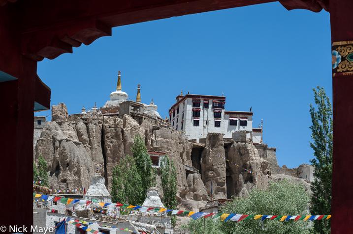 India,Jammu & Kashmir,Monastery,Prayer Flag,Stupa, photo